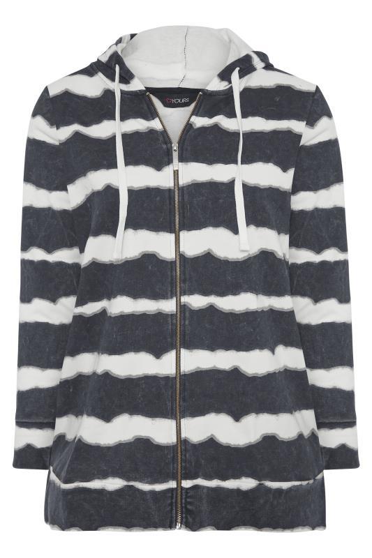 Black Stripe Zip Through Hoodie_F.jpg