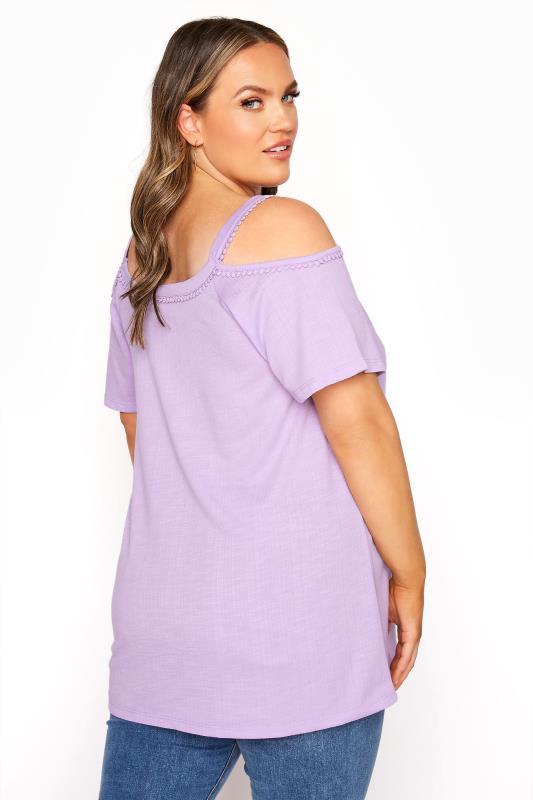 Lilac Cold Shoulder Strap T-Shirt_C.jpg