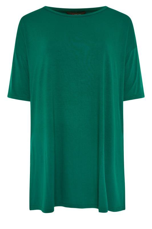 Emerald Green Oversized Jersey T-Shirt_F.jpg