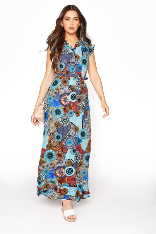 LTS Blue Circle Frill Wrap Maxi Dress_B.jpg