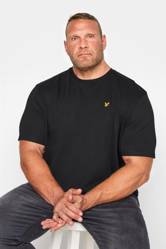 Grande Taille LYLE & SCOTT Black Crew Neck T-Shirt