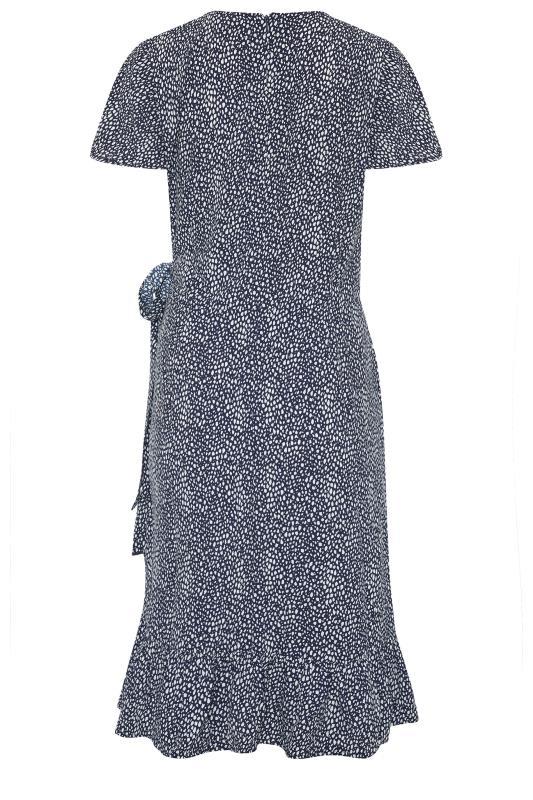 LTS Blue Leopard Print Frill Wrap Dress_bk.jpg