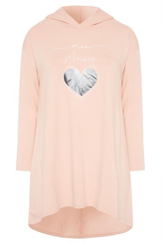 Peach 'Mon Amour' Print Hoodie Tunic_F.jpg