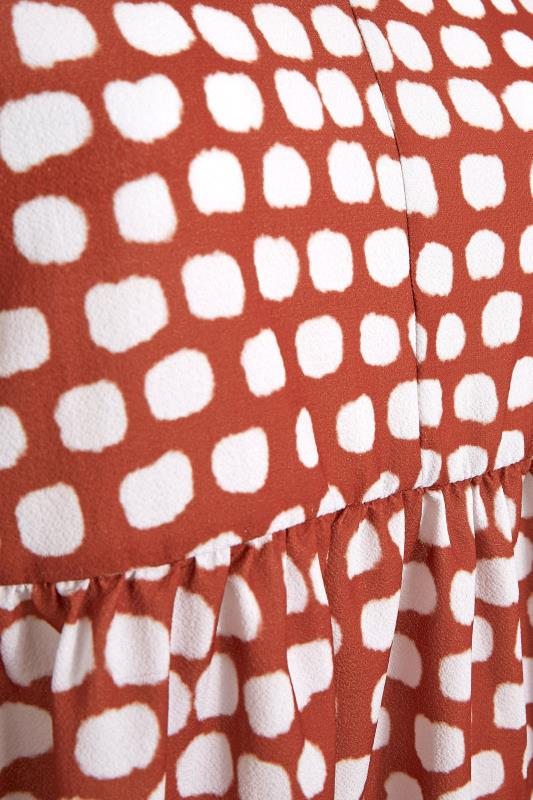 YOURS LONDON Orange Pebble Print Tunic_s.jpg