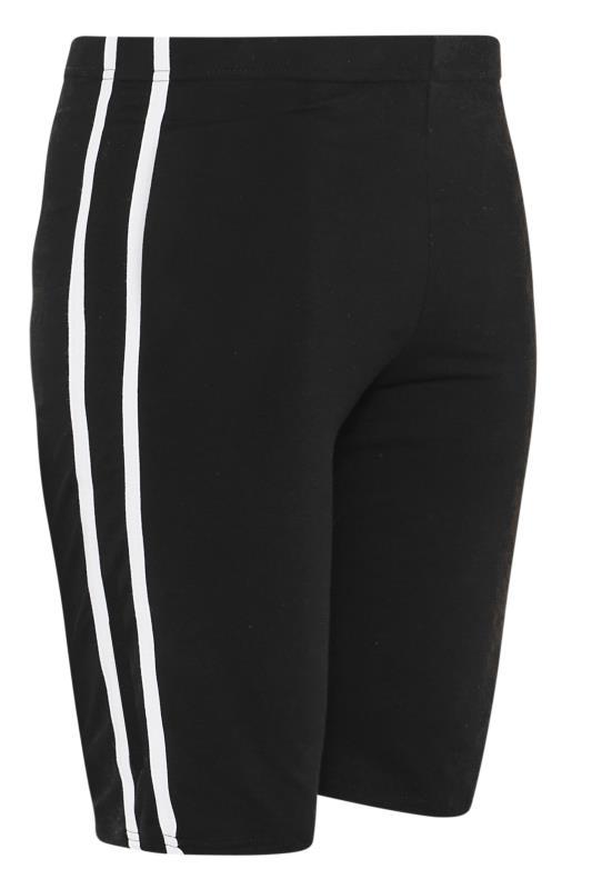 Black Side Stripe Cycle Shorts_F1.jpg