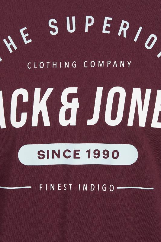 JACK & JONES Burgundy Herro Long Sleeve T-Shirt_S.jpg