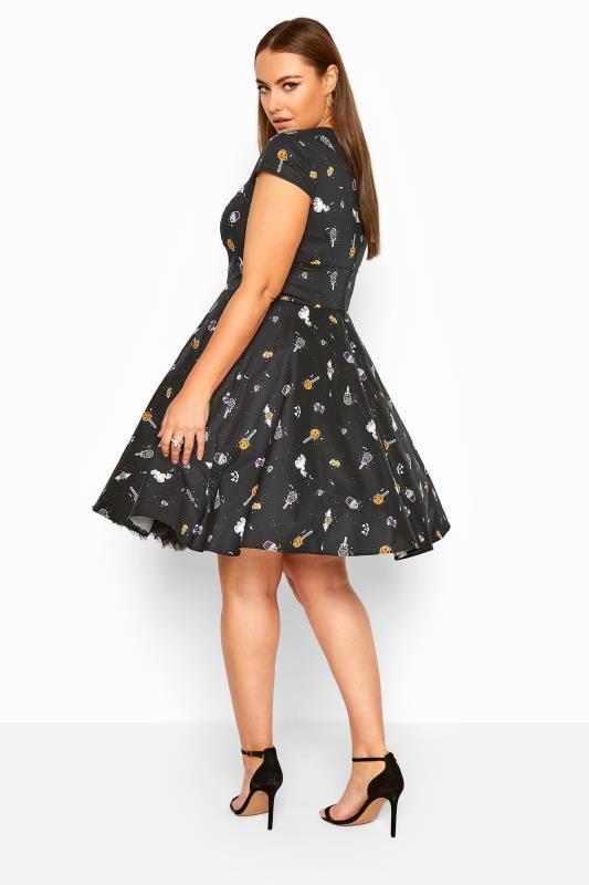 HELL BUNNY Black 'Trick Or Treat' Dress