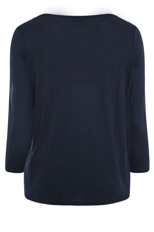 Navy Scoop Neck Long Sleeve T-Shirt_BK.jpg