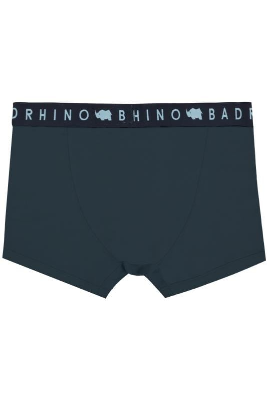 3 PACK BadRhino Navy, Blue & Grey Marl Elasticated A Front Boxers