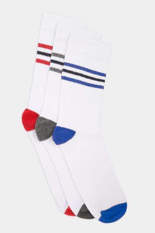 3 PACK BadRhino White Sport Socks