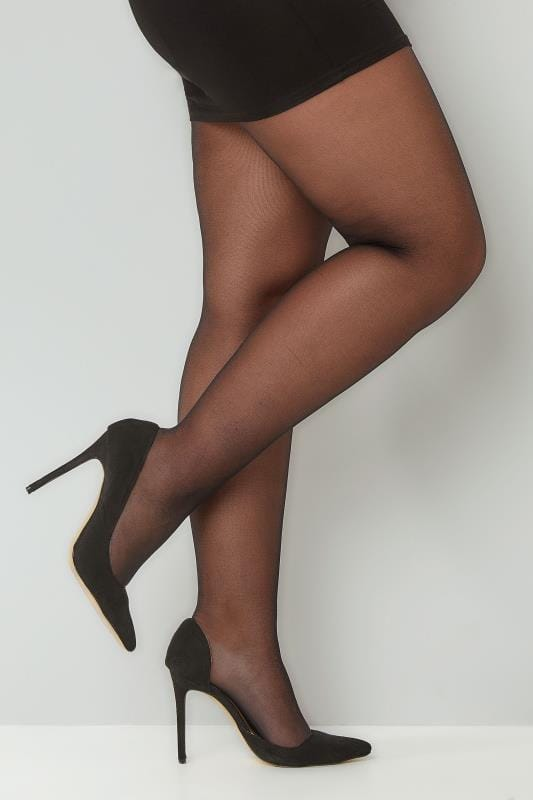 Collants Grande Taille Lot de 3 Collants 20 Deniers - Noir & Ultra Résistant