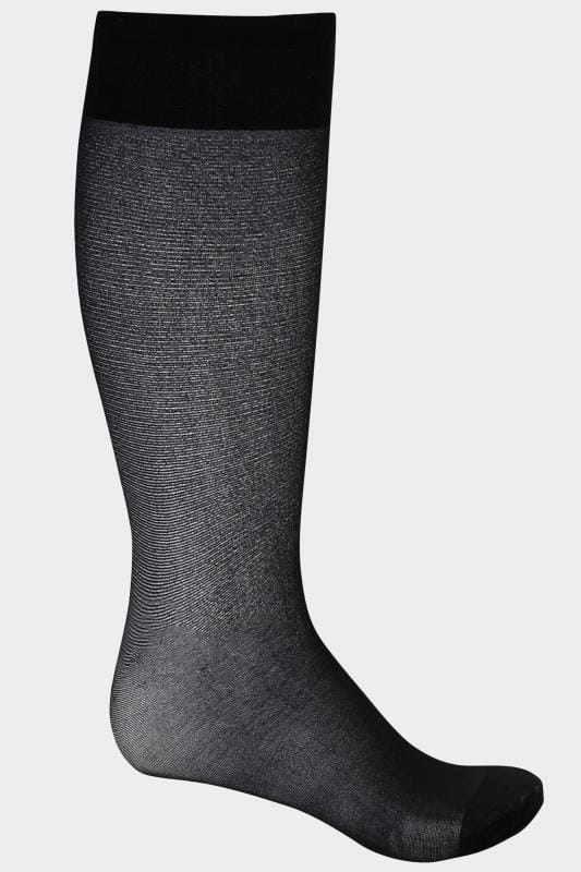 3 PACK Black Sheer Knee High Socks