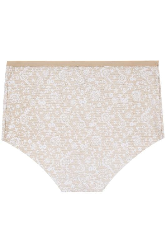 3 PACK Black, White & Nude Lace Print No VPL Full Briefs