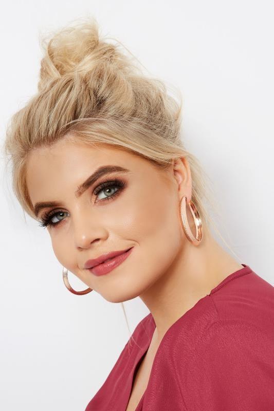 3 PACK Textured Hoop Earrings