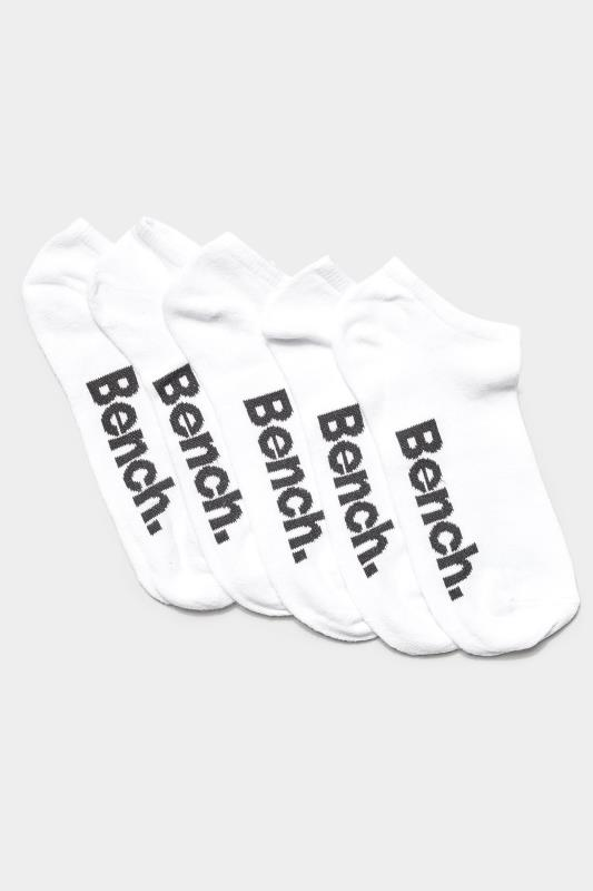 BENCH 5 Pack White Ankle Socks