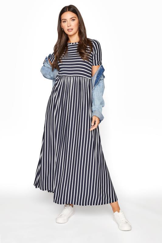 LTS Navy Stripe Midi Dress