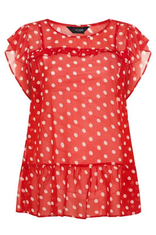 Red Polka Dot Frill Hem Tunic_F.jpg