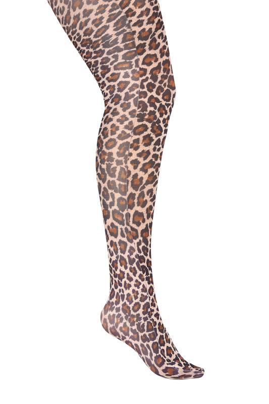 Brown Leopard Print Tights