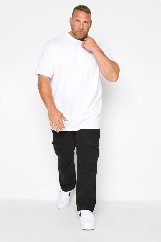 Cargo Trousers Grande Taille KAM Black Cargo Trousers