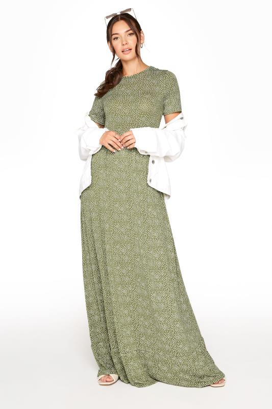 LTS Green Ditsy Floral Tiered Midaxi Dress_A.jpg