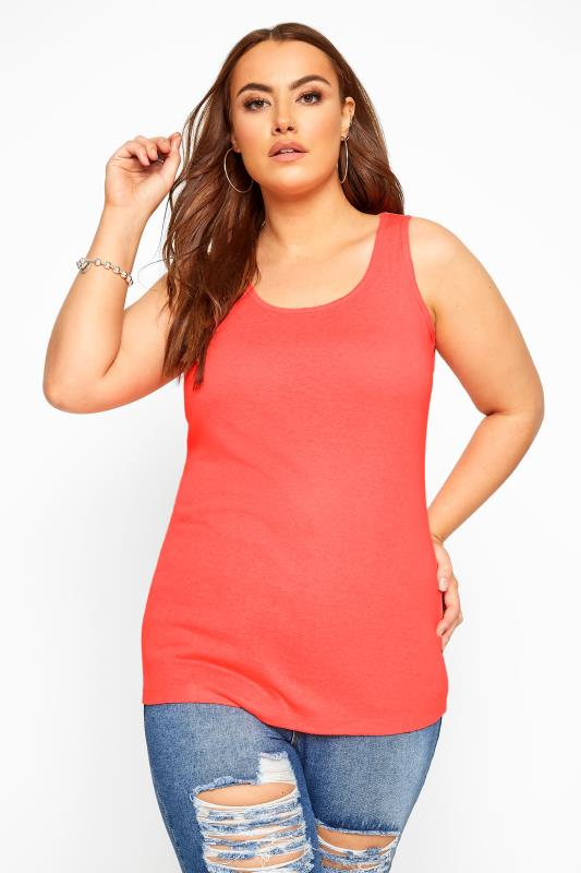 Plus Size Vests & Camis Neon Coral Vest Top