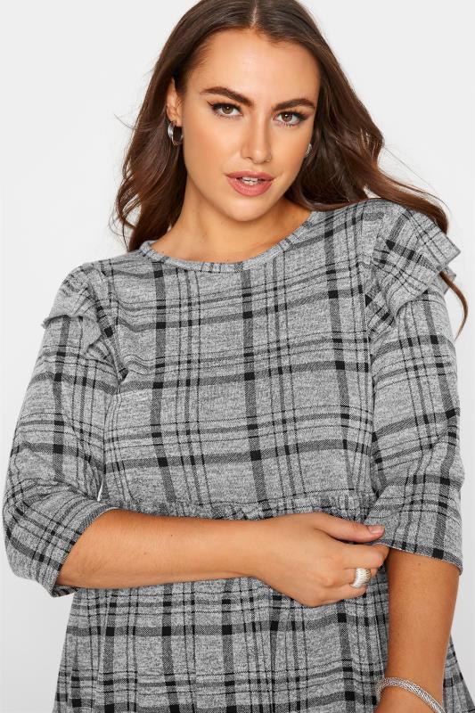 Grey Check Frill Knitted Peplum Top_D.jpg