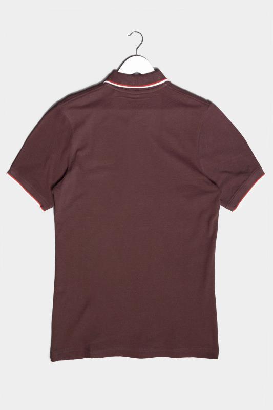 BadRhino Burgundy Essential Tipped Polo Shirt_BK.jpg