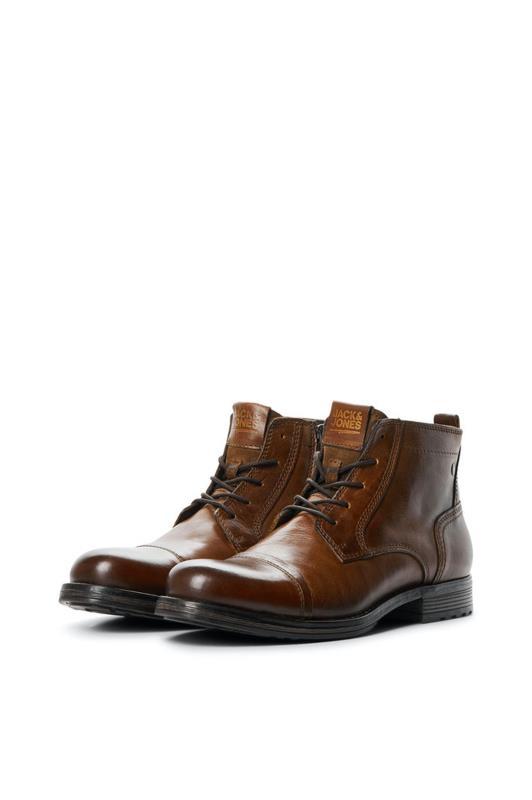 Men's  JACK & JONES Brown Lace-Up Ankle Boots