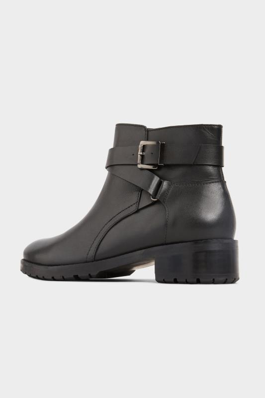 Black Leather Buckle Ankle Boots In Extra Wide Fit_C.jpg