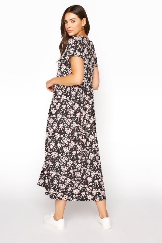LTS Black Floral Print Jersey Midi Dress_C.jpg