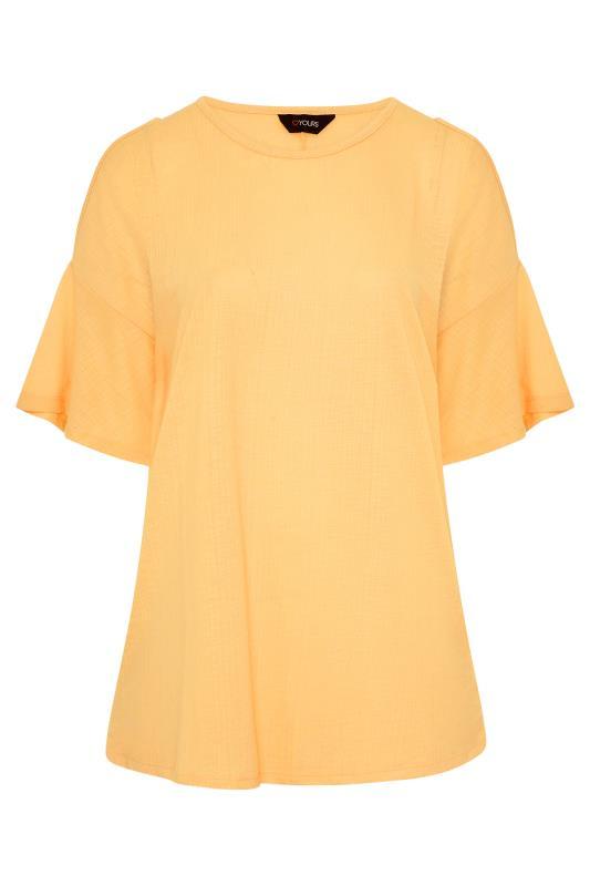 Plus Size  Mustard Cold Shoulder T-Shirt