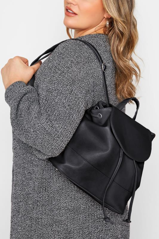 Black Drawcord Backpack