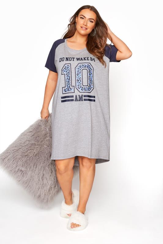 Grey Animal Varsity Nightdress_A.jpg