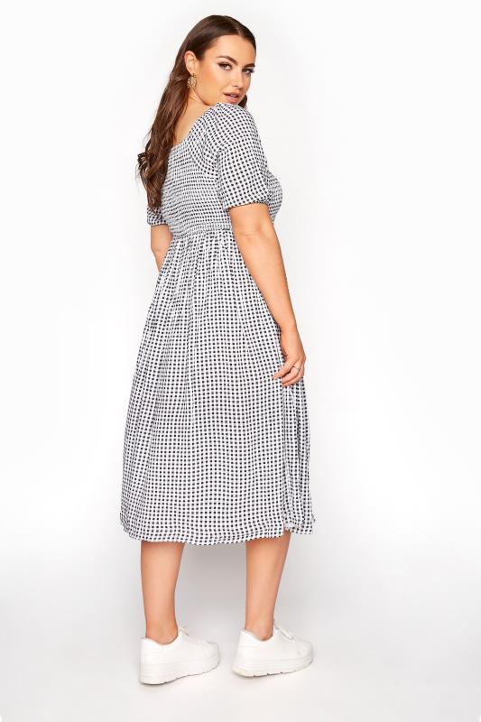 Black Gingham Shirred Midaxi Dress_C.jpg