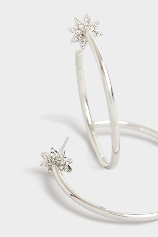 Silver Star Diamante Hoop Earrings_D.jpg