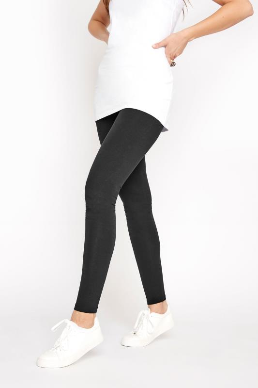 Black Cotton Stretch Leggings