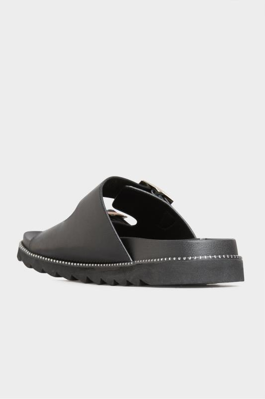 LIMITED COLLECTION Black Stud Buckle Sandal In Extra Wide Fit_C.jpg
