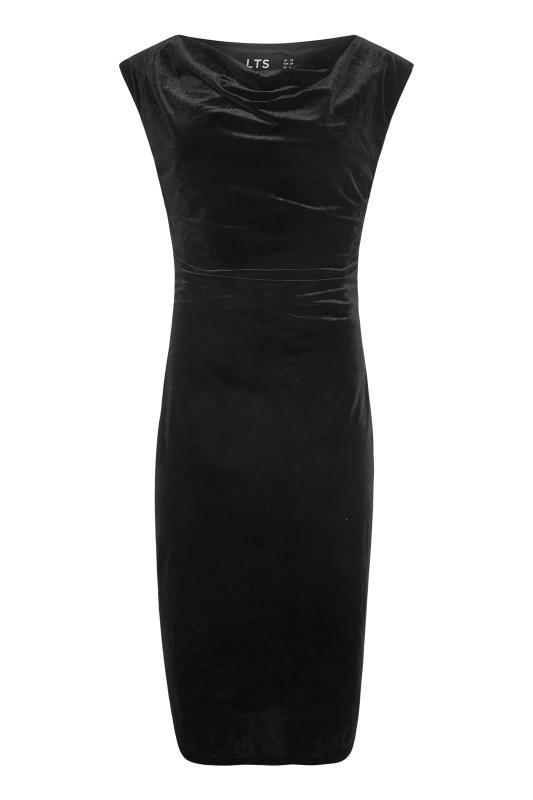 LTS Black Cowl Neck Velvet Dress_F.jpg