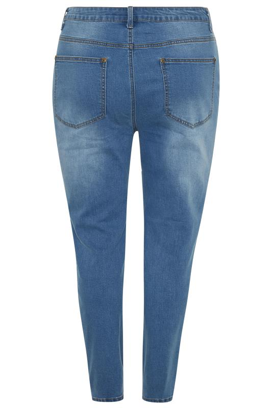 Blue Extreme Distressed Ripped Skinny AVA Jeans