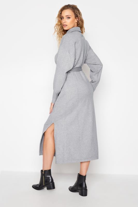 LTS Grey Roll Neck Knitted Midi Dress_C.jpg
