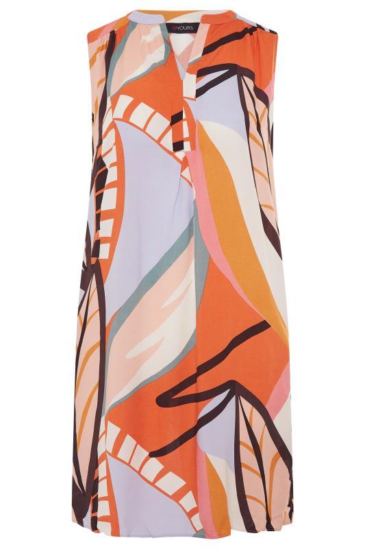 Orange Abstract Midi Dress_F.jpg