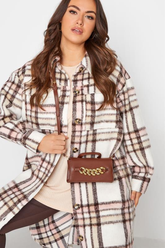 Brown Chunky Chain Mini Bag