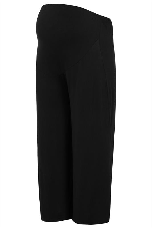 BUMP IT UP MATERNITY Navy Palazzo Trousers With Comfort