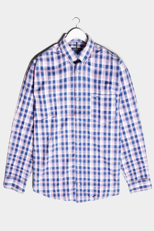 Men's  BadRhino Pink & Blue Cotton Check Shirt