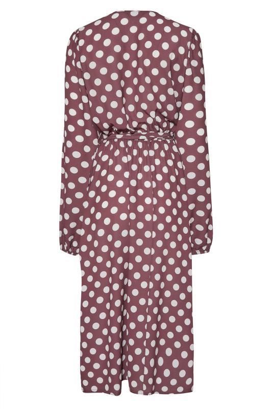 LTS Brown Polka Dot Wrap Midi Dress_BK.jpg