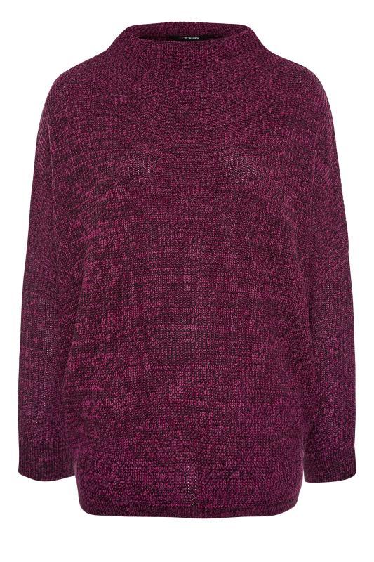 Plum Oversized Knitted Jumper_F.jpg