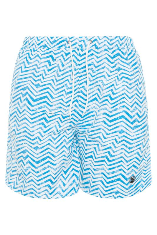 Men's  ESPIONAGE Blue Wave Print Swimshorts