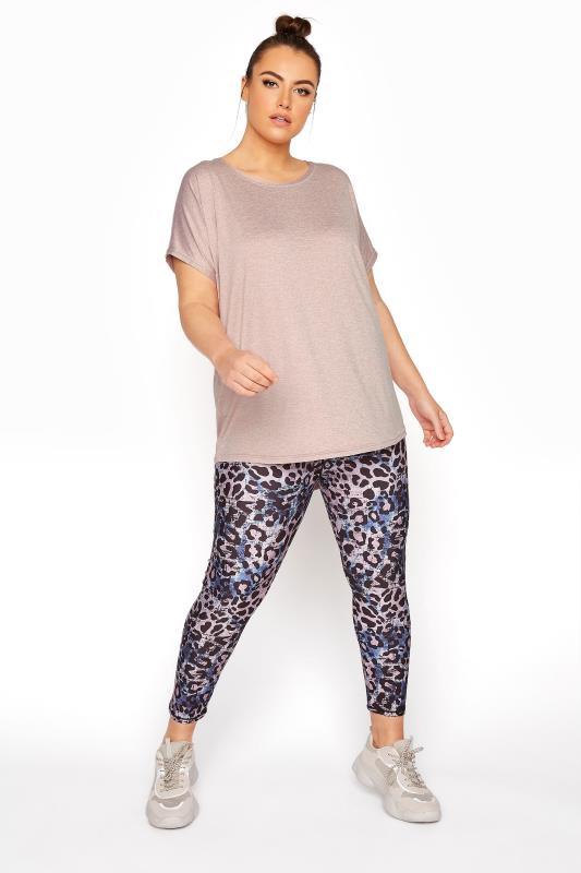 Plus Size  ACTIVE Pink Leopard 7/8th Leggings
