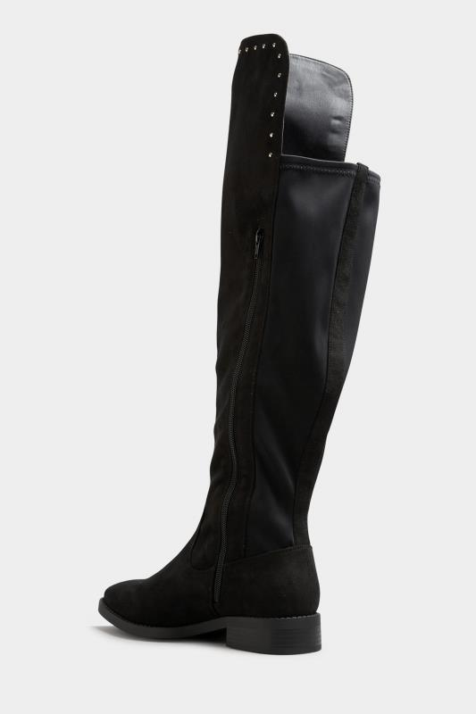 LIMITED COLLECTION Black Stud Over The Knee Boots In Extra Wide Fit_C.jpg