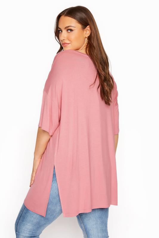 Rose Pink Oversized T-Shirt_C.jpg